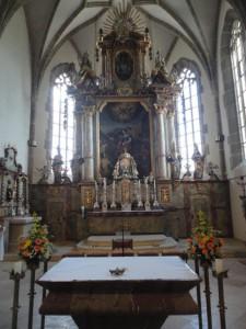 """Gemeindebilder Saldenburg, Hochaltar in der Pfarrkirche """"St. Brigida"""""""