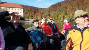 Pilgerwanderung der VIA NOVA Pilgerwegbegleiter-/innen, Fahrt mit der Zille Kloster Weltenburg
